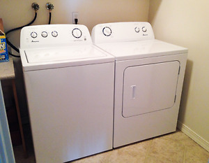 2015 Amana Washer and Dryer together