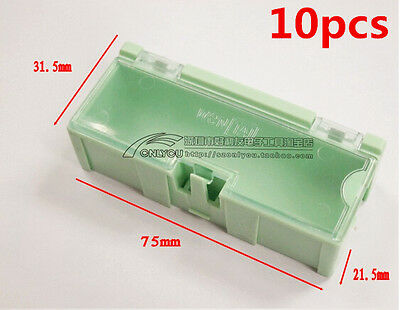 10pcs Smt Smd Kit Lab Chip Components Screw Storage Box Case