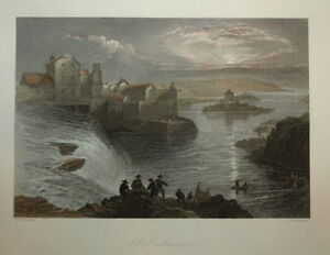 IRELAND. BALLYSHANNON BY WILLIAM BARTLETT CIRCA 1840.