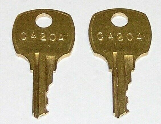 C420A Replacement Cabinet Drawer Lock Brass Keys, Package Of 2