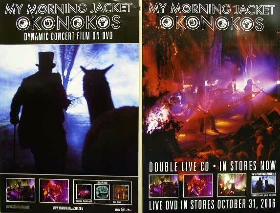 MY MORNING JACKET 2006 okonokos 2 sided promo poster Flawless NEW old stock