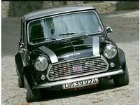 WANTED - Rover Mini cooper for hire/rental