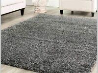 Lovely thick grey rug 133cm x 195cm
