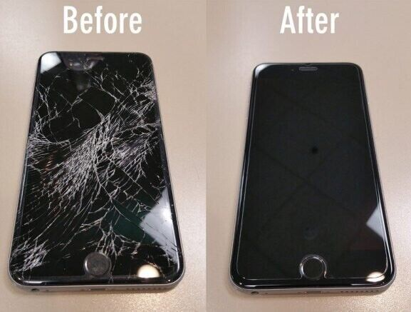 Iphone 6s+ Plus Cracked Glass And Lcd Broken Screen Repair Service