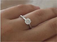 Lost diamond engagement ring