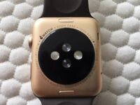 Apple Watch 1st Generation 42mm Gold & Brown Sports Strap