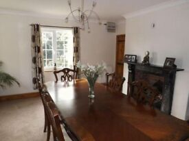 Beautiful dining room table with four chairs and two carvers ball and claw feet