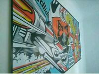 Large 200cm x 100cm Star wars pop art wall art.