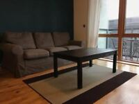 One bedroom flat comes fully furnished, with the view of the orbit in the Olympic park