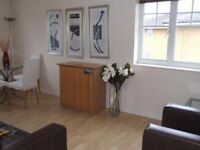A modern two bedroom apartment fully furnished close to British Rail station