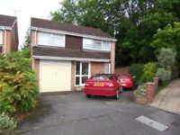 4 bedroom detached house next to woods