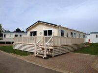 3 bedroom lodge with decking on 12 month holiday park Highfield Grange Clacton on sea