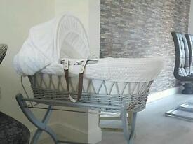 Baby moses basket and swing