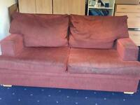 2 Red Double Sofa