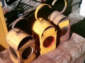 Yellow road work lamps only have three left ,£10 each