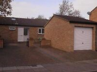 2 bed + conservatory, semi detached bungalow, off road parking, Hodge Lea, MK12