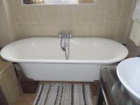 Victoria and Albert 'Ella' double-ended free-standing bath and taps