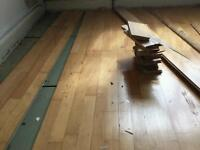 Used solid wooden floor junckers bog beach tongue and groove