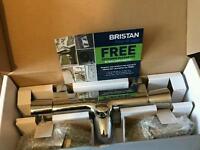 Bristan Thermostatic Pillar Bath Shower Mixer Chrome