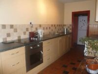 Kitchen units - cupboards and doors - second hand good condition light brown wood