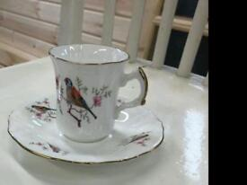Gold rimmed Flammersley cup and saucer