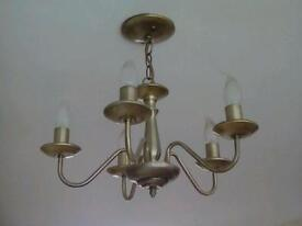 Antique brass style matching ceiling and wall lights
