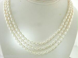 Color-Variety-4-5-5mm-Tiered-3-Strand-Cultured-Freshwater-Oval-Pearl-Necklace