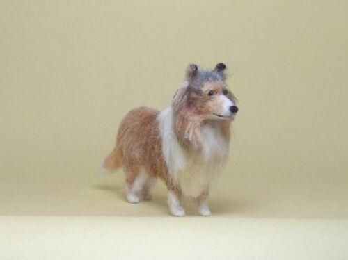 OOAK 1:12 Shetland Sheepdog Dog Sheltie Dollhouse Miniature Handmade HM