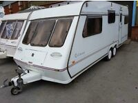 5 BERTH FLEETWOOD COLCHESTER TWIN WHEEL WITH END BEDROOM FULL AWNING MORE IN STOCKWE CAN DELIVER