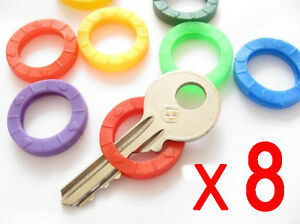 Lot-8-X-HOT-Colour-PVC-Key-Shirt-Cap-Cover-Holder