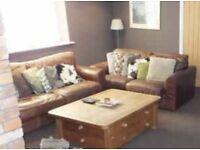 Silcox leather sofa's A1 condition bargain