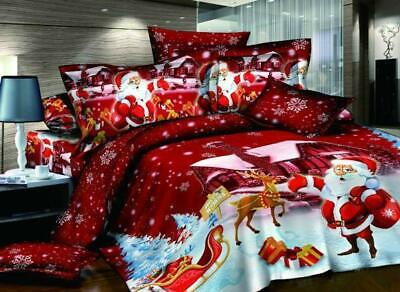 4 Piece Bedding Set Christmas Coverlet Set Bedspread, Flat S