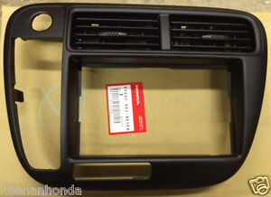 Genuine OEM Honda Civic Radio / Stereo Trim Bezel Cover 1999-2000