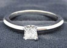 Tiffany & Co Diamond Engagement Ring - SOLID Platinum! Melbourne CBD Melbourne City Preview