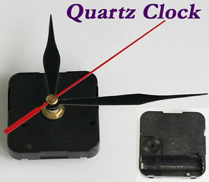 Black Hands Quartz Clock Mechanism Silent Movement Parts Repair Kit