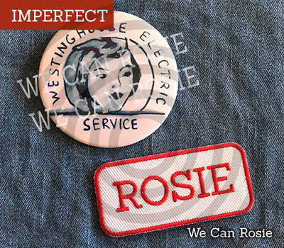IMPERFECT Rosie the Riveter Pin + ROSIE patch, costume (2.25 - Rosie Riveter Costume