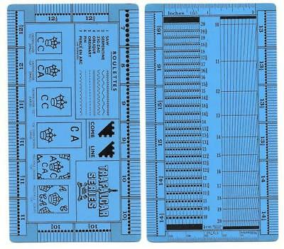 "Plastic New Perforation Gauge ""Trafalgar Series Gauge"" Double-sided"