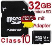 32 GB Micro SDHC Speicherkarte