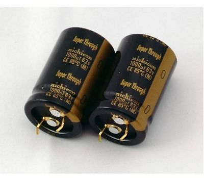 2pcs Nichicon Kg Super Through Typeiii 1000uf 63v Audio Capacitor 85 E188 Yx