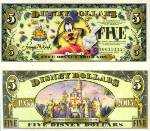 disney world 50th anniversary ticket giveaway disney dollars 2005 ebay 2256