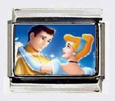 CINDERELLA & PRINCE DANCING Italian photo 9mm Charm for modular link (Dance Italian Charm Bracelet)