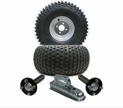 ATV trailer kit 22x11-8, knobby Quad trailer - wheels + hub / stub + hitch 310kg