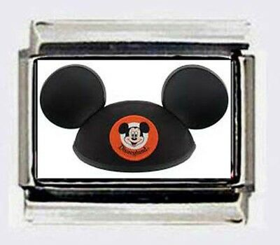 Mickey Mouse Club Charm - MICKEY MOUSE CLUB HAT  Italian Photo 9mm Charm for modular LINK bracelets