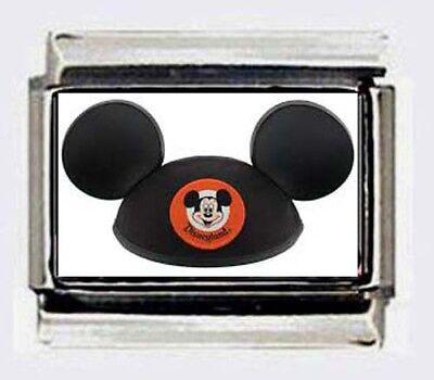 MICKEY MOUSE CLUB HAT  Italian Photo 9mm Charm for modular LINK bracelets