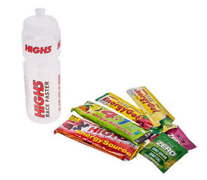 High5 Energy Drink Road / MTB Bike Water Bottle 750ml + Gel & Powder Sachets