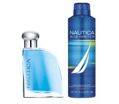 Nautica Blue Ambition EAU DE TOILETTE 2 piece gift set for men, new with box