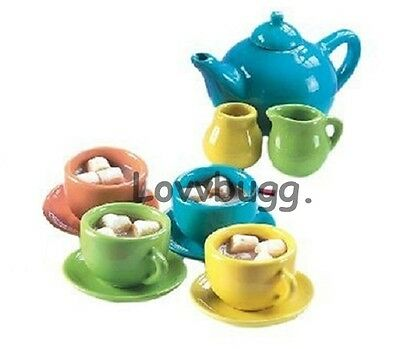 "Lovvbugg Colorful Tea Set 12 pcs for 18"" American Girl Doll Accessory"