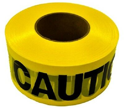 Ch Hanson 1000 Yellow Caution Tape Weatherproof Poly Vinyl Chloride