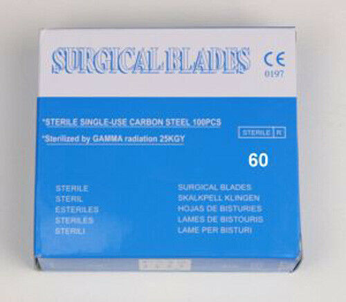 # 60 STAINLESS STEEL BLADES / STERILE (COUNT 100)