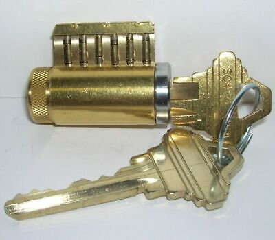 Cutaway Lock Cylinder For Locksport Practice And Training. 6 Pin Schlage Keyway